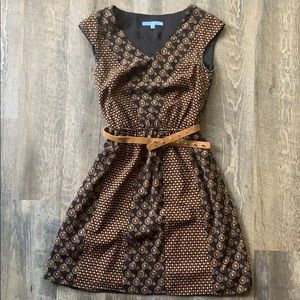 Pattern Dress with Belt